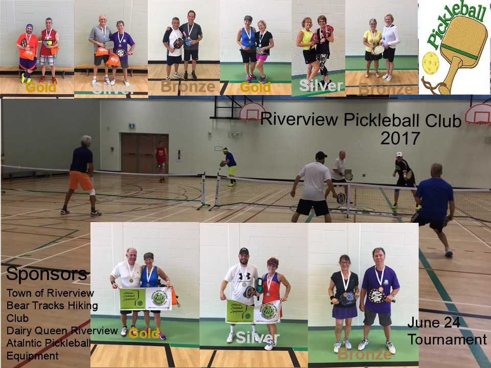 Pickleball Tourney Collage